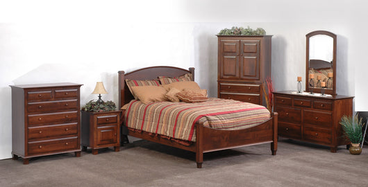 Image of customizable, solid wood Willow Bedroom Set from Harvest Home Interiors Amish Furniture