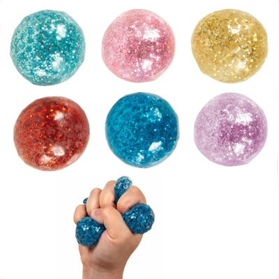 Slow rise squishy sparkle gel ball - My Sensory Tools