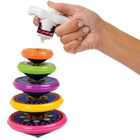 Spinning stacking top skill toy occupational therapy tool