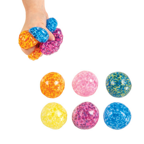 Slow rise squishy gel ball