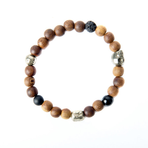Wood Bead Bracelet Men