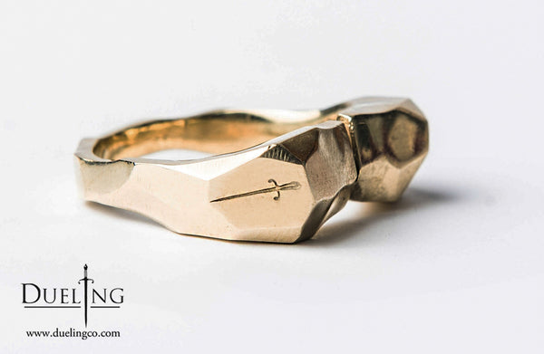 Gold Rugged Adjustable Finger Ring
