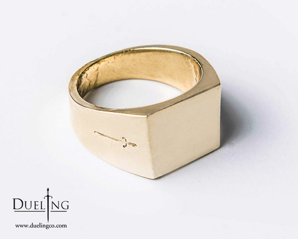 Gold Rectangle Ring