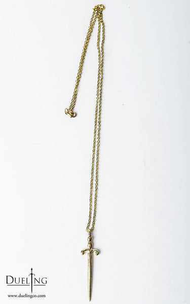 Gold Sword Pendant Necklace