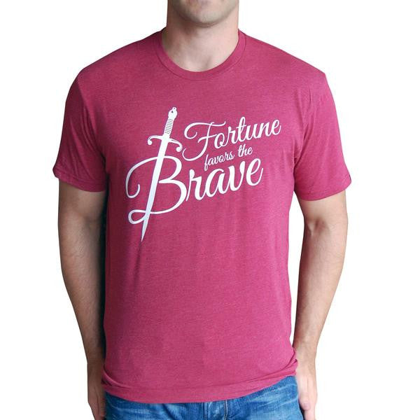 Fortune Favors The Brave T Shirt - 5 Colors