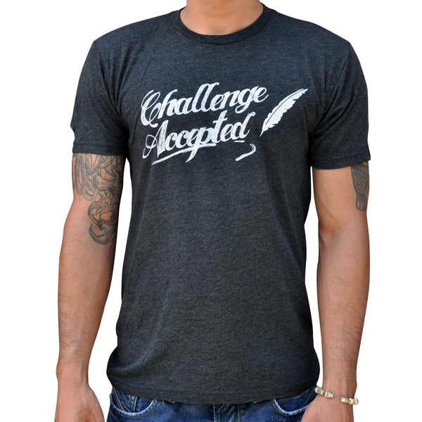 Challenge Accepted T Shirt Vintage Black