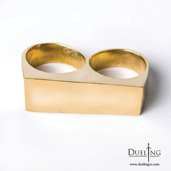 Gold Two Finger Ring