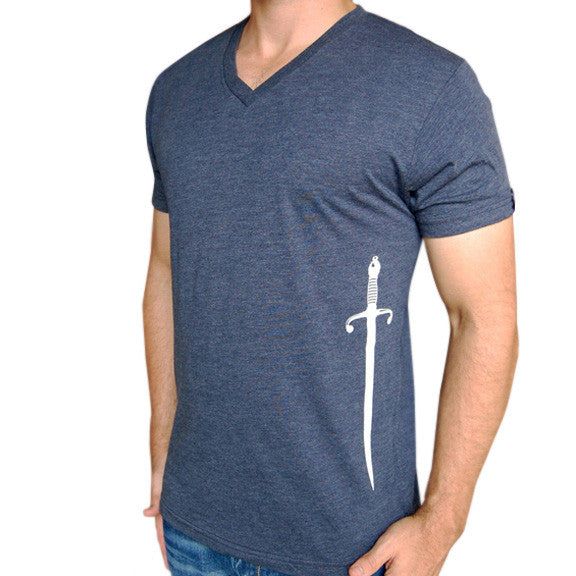 Sword T Shirt Navy Blue