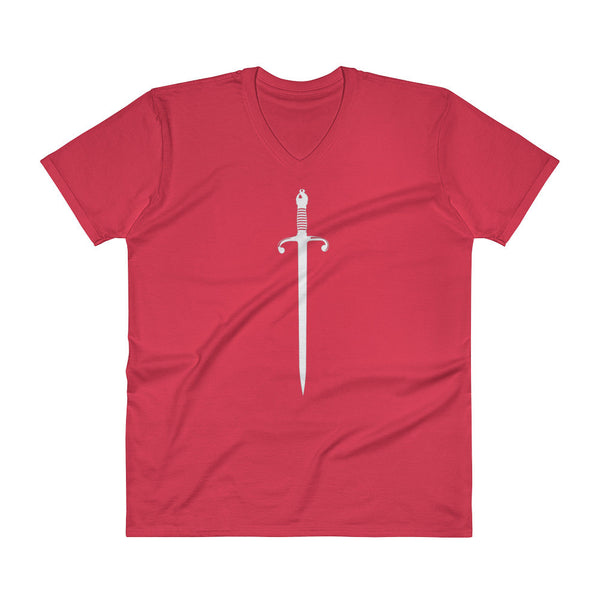 Sword V Neck Fitted T Shirt - 6 Colors