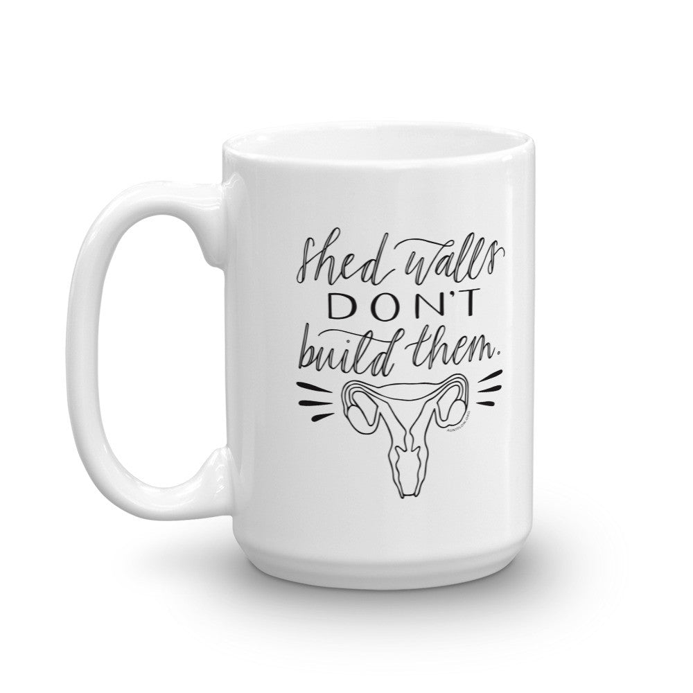 Mug - Shed Walls Don't Build Them