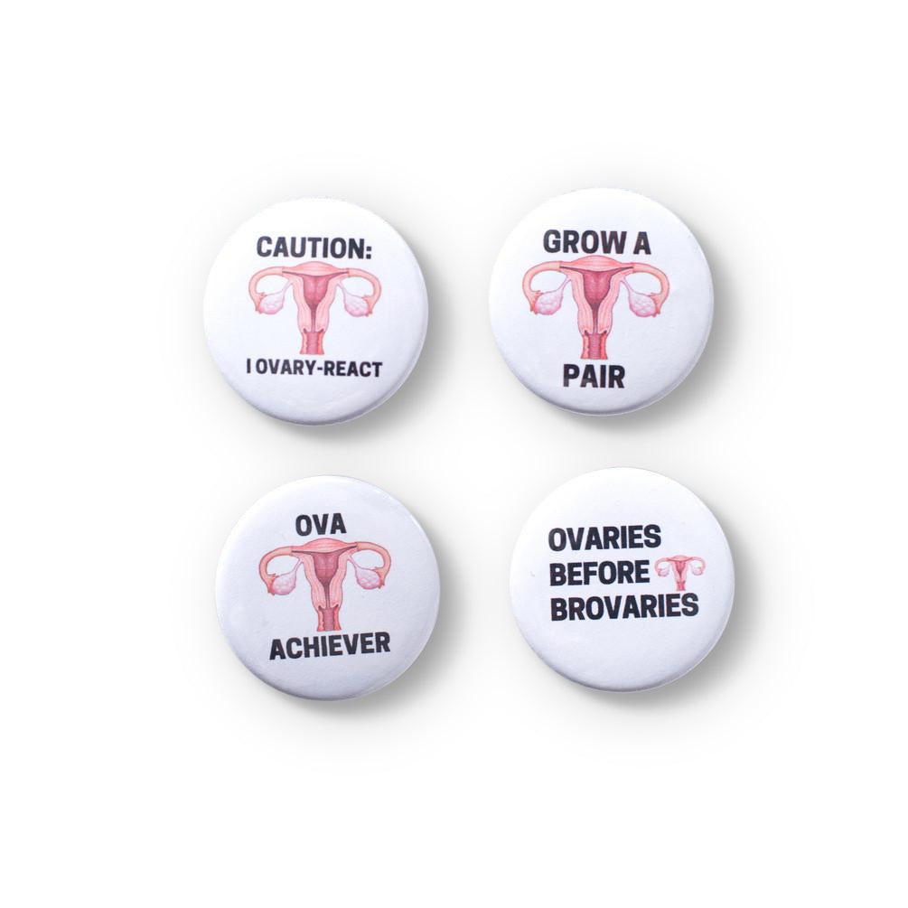 Button - Pack of 4 Uterus Badges