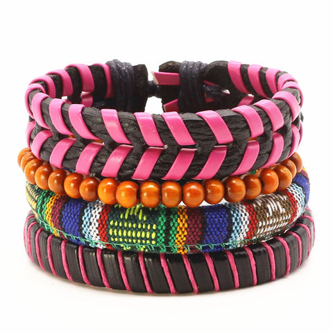 Punk Braclet for Men Pink Series