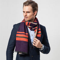 Classic Lattice Striped Scarf for Men