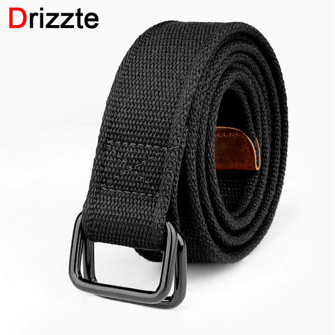Drizzte Mens Belt Double Ring Buckle