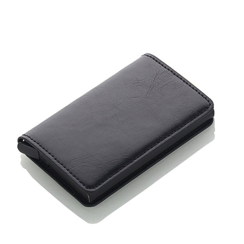 Slim Wallet with auto pop up Aluminum Alloy Card Holder for Men