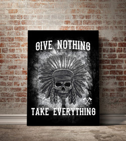 Give Nothing Canvas - 84