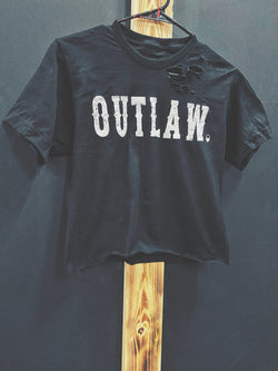 46- Outlaw Crop Top - Black
