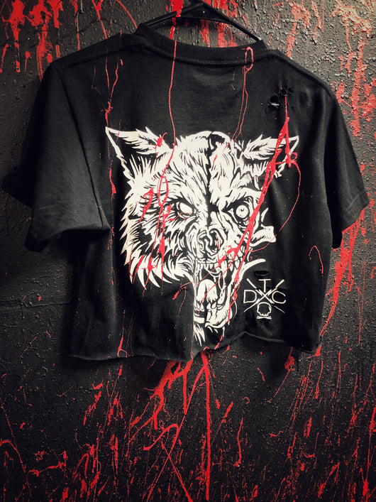 Blood Lone Wolf Crop Top - 301