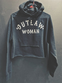 Outlaw Woman Crop Hoodie - 1010/Crop
