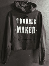Load image into Gallery viewer, 142- Trouble Maker Crop Hoodie