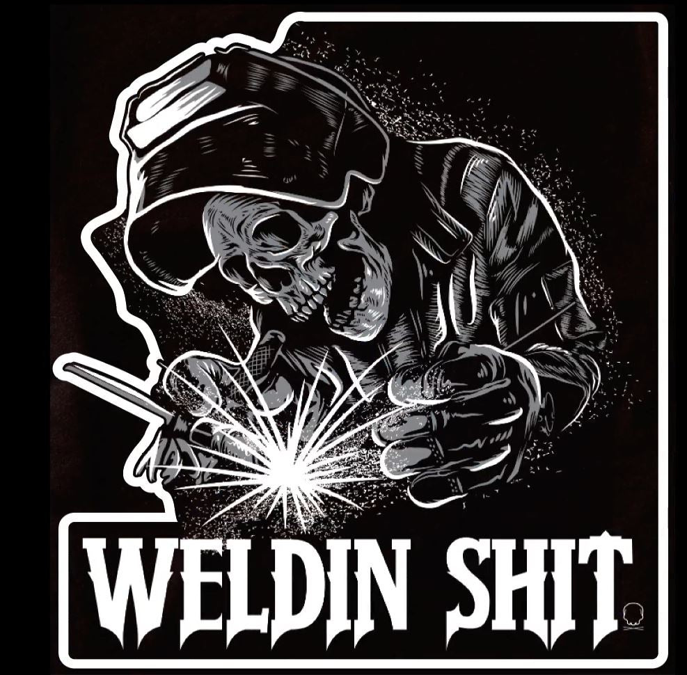 302 - Skeleton Welder Decal