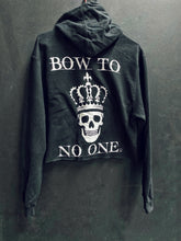 Load image into Gallery viewer, 126- Bow Down Crop Hoodie