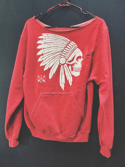 Apache Wide Neck Hoodie - 128/Wide Neck