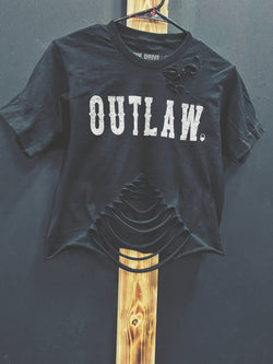 Outlaw Crop Top - Black - 332/Belly