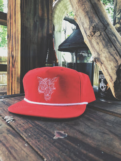 Lone Wolf Grandpa Snap - Red/White - 967