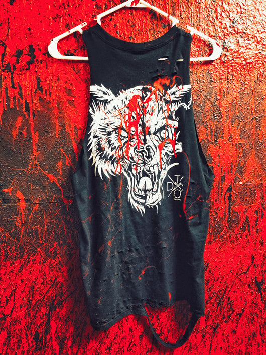 Blood Lone Wolf Tank Top - 301/Tank