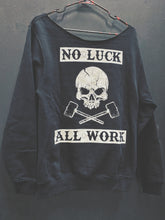 Load image into Gallery viewer, 167- All Work Wide Neck Hoodie