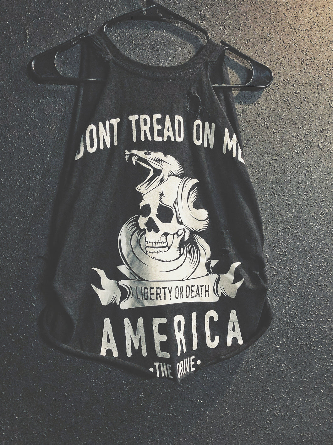 109- Don't Tread Crop Tank Top