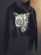 Load image into Gallery viewer, 103- Blood Lone Wolf Crop Hoodie