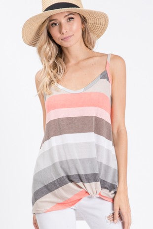sleeveless multi-color top
