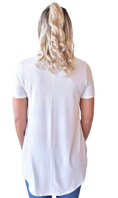 Relaxed Fit Scoop Neck Tee