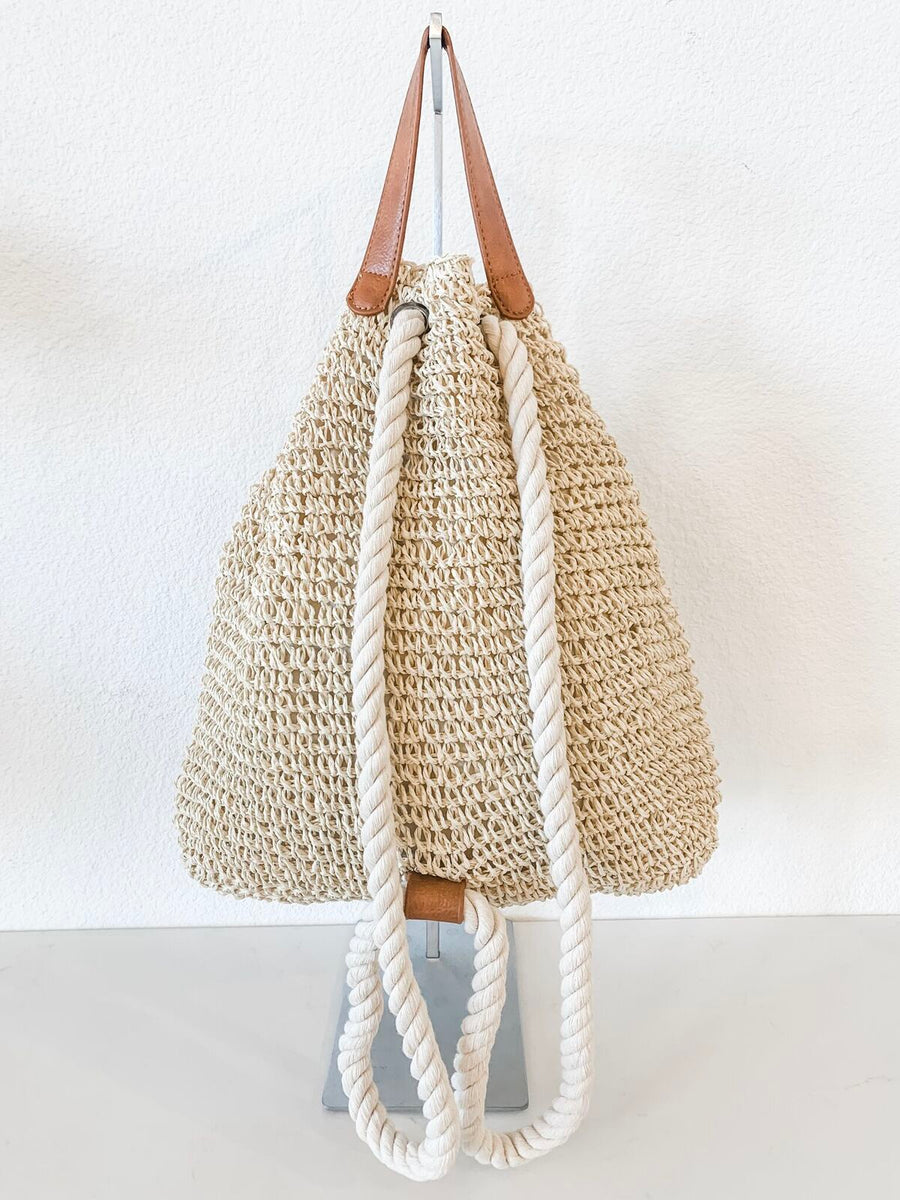 Woven Tan  Backpack