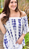 Women's Tie Dye Off Shoulder Top - Smith & Angie Boutique