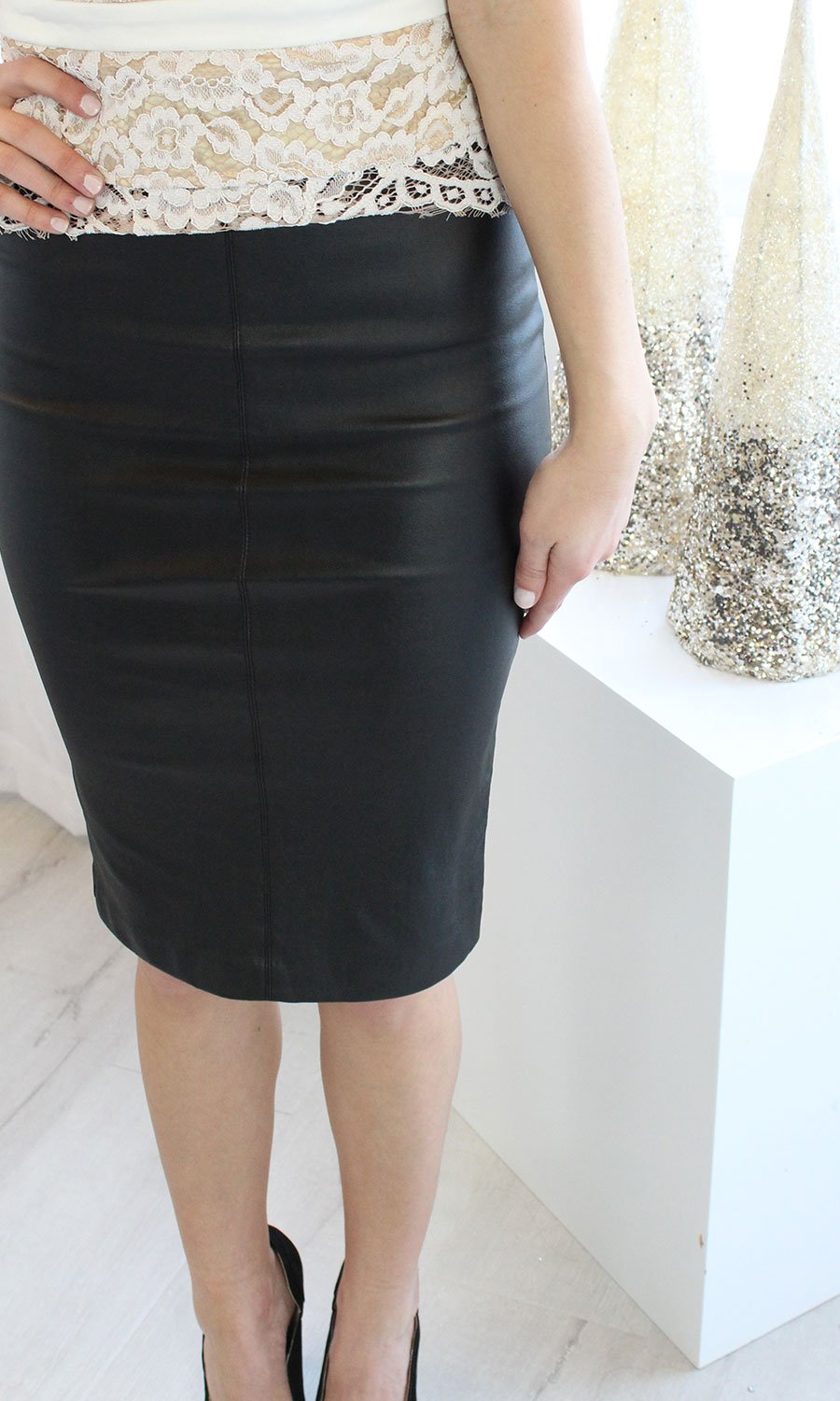 Women's Leather Pencil Skirt - Smith & Angie Boutique