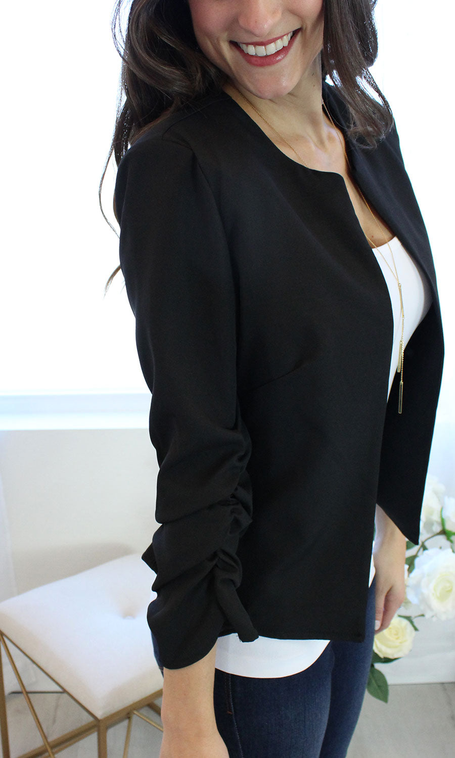 Stephanie - Cropped Blazer