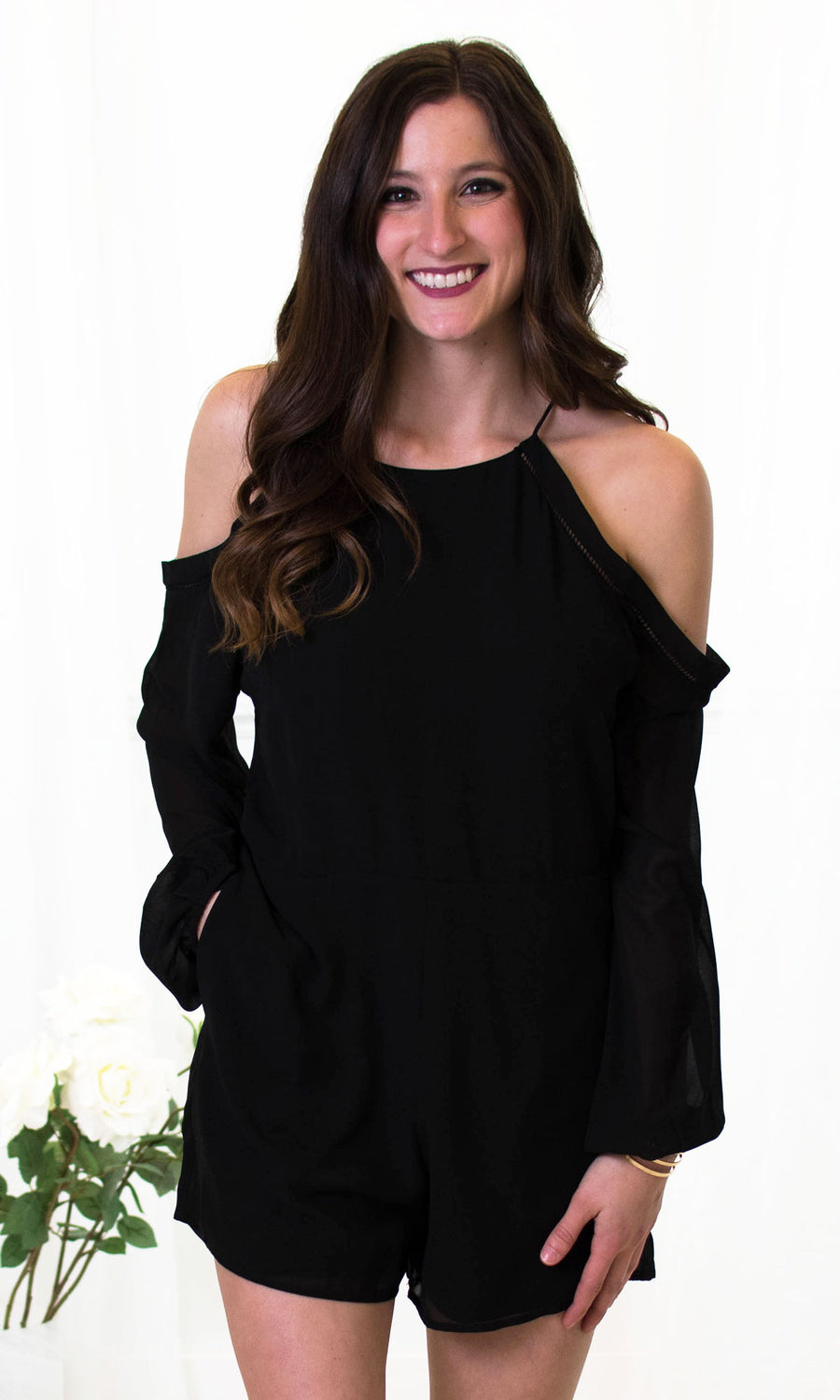 Dakota - Cold Shoulder Romper