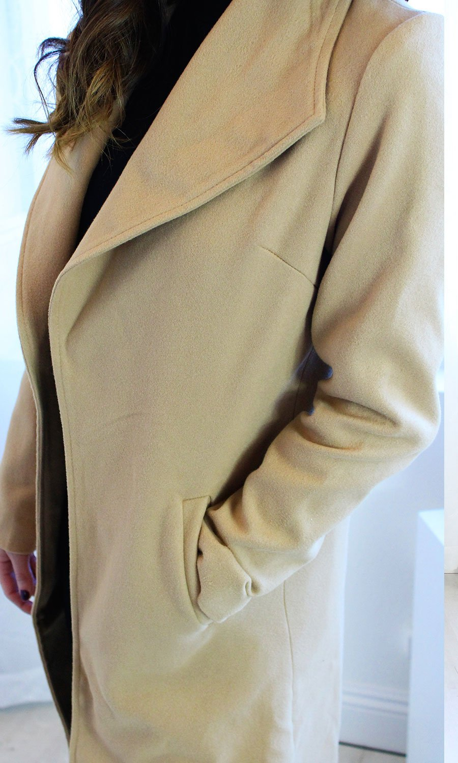 Courtney - Long Camel Coat