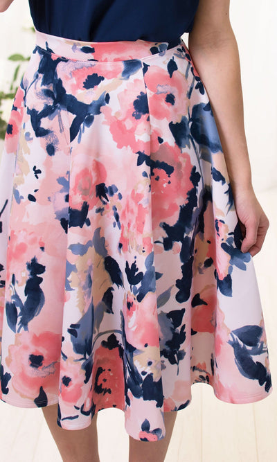 Women's Floral A Line Skirt - Smith & Angie Boutique