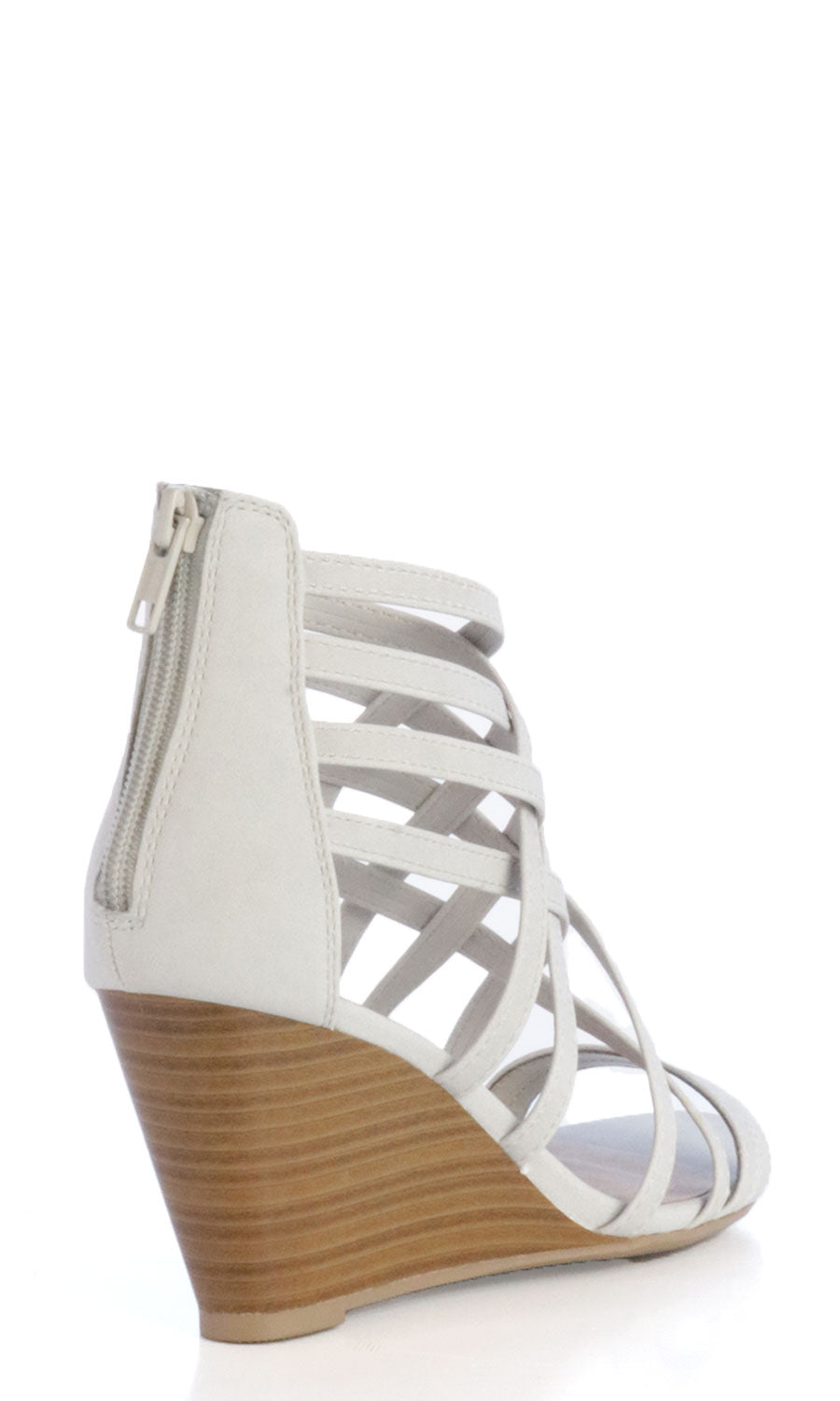 Women's Grey Strapped Wedges - Smith & Angie Boutique