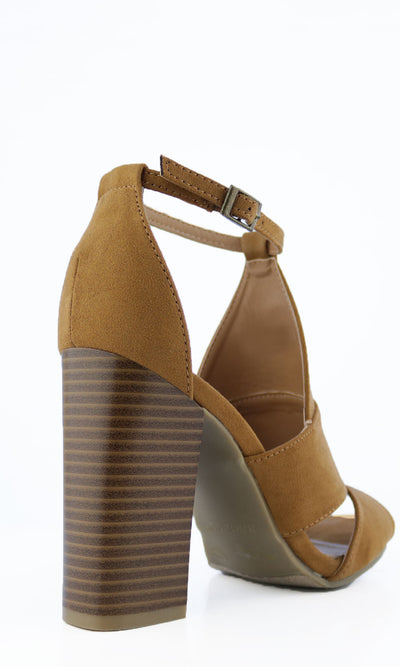 Women's Cognac Heel - Smith & Angie Boutique