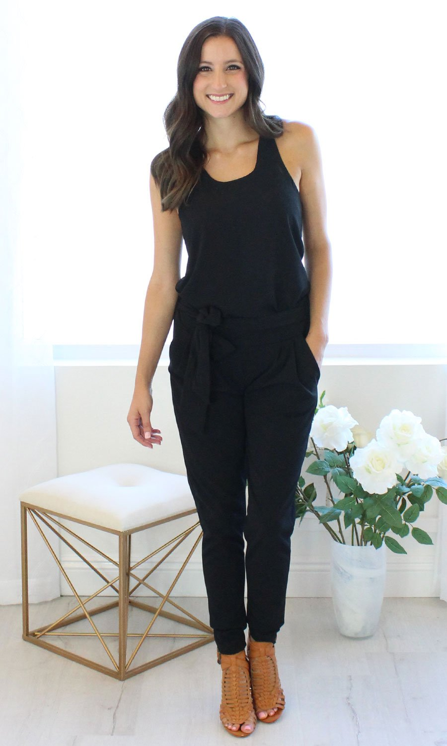 Bev - Black Jersey Pants