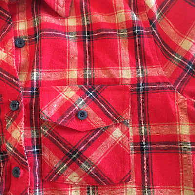Katie - Plaid Button Front Shirt