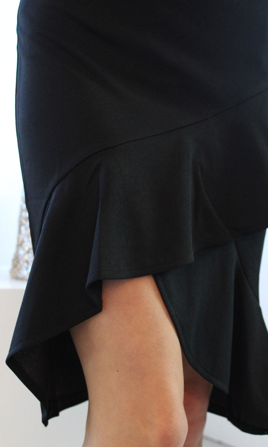 Women's Black Ruffle Skirt - Smith & Angie Boutique