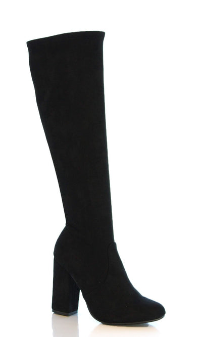 Heather - Black Heeled Boots