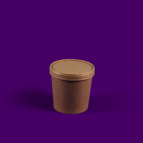 16oz brown kraft soup containers