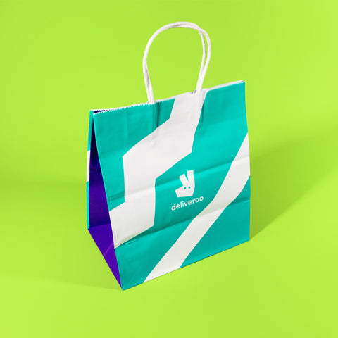 Large wide gusset SOS delivery bag, Deliveroo branded